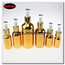 100ml High Temperature Gold Bottle with Dropper