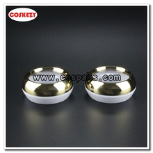 45g Skin Care Capsule Containers with Gold Collar