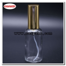 Clear Glass with Gold perfume pump 50ml 100ml