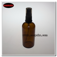 PXG20A-100ml Amber Glass with Plastic Perfume Pump