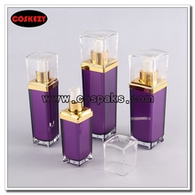 Multi-size Square Purple Plastic Bottles with Caps Wholesale