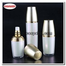 Cosmetic Pump Bottles Supplier of White Body and Gold Cover