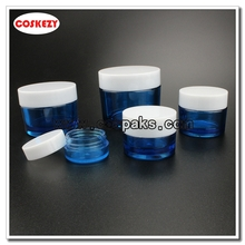 Wholesale Multi-size Empty PETG Cream Containers  in Blue