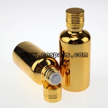 Gold bottle for Essential Oil 50ml with Gold UV Cap