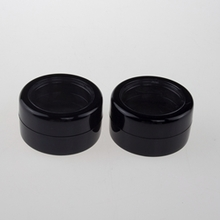 Empty 2.5g Black Makeup Eye Shadow Cosmetic Jar