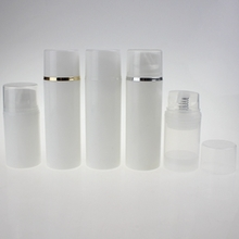 Cheap White Cosmetic Airless Pump Bottle For Wholesale