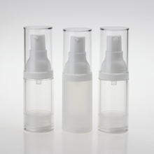 20 ml 30 ml 50 ml Clear Frosted Bottles With Airless Pump