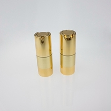 15 ml 30 ml 50 ml Gold Aluminium Base Airless Pump Bottle