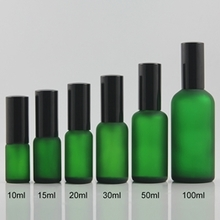 Multi-size Colored Frosted Glass Spray Pump Bottles