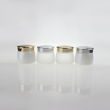 130g Glass Jar with Wide Bottom and Gold or Silver Lids