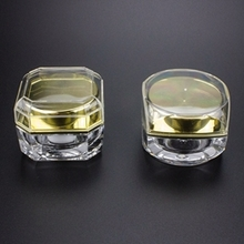 Acrylic Cosmetic Cream Containers with Gold Lids