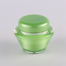 15g 30g 50g Green Plastic Cosmetic Jar Container