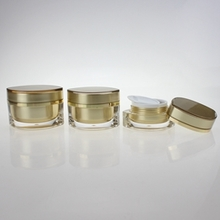 15g 30g 50g Cosmetic Plastic Gold Beauty Shape Jar