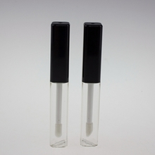 Clear Tube with Lip Gloss Brush 4.5ml in Square Shape