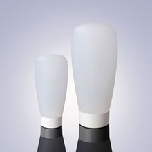 Wide Bottom Cosmetic Plastic White 60ml Tubes