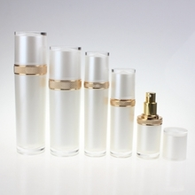 120ml Acrylic Toner Bottles with Gold Mist Pump