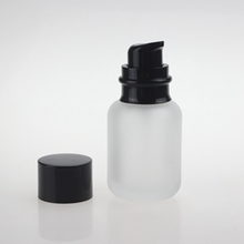 120ml Glass Frosted Clear Pump Bottle with Black Pump
