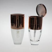 30ml Wide Top Glass Liquid Foundation Bottle in Rose Gold