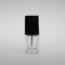 Square Glass Liquid Foundation Bottle with  Cap