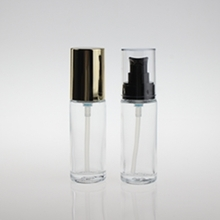 Clear Round Glass Liquid Foundation Bottle for Cosmetic