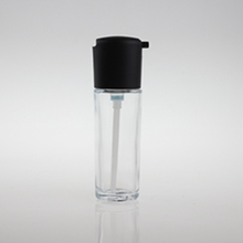 Press 35ml  Glass Liquid Foundation Bottle