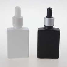Flat Square Essential Oil Dropper Bottle in Glass