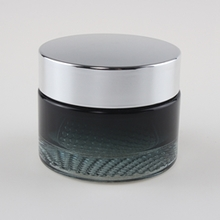 15g 30g 50g Black Glass Jar for Sale with Silver Cap