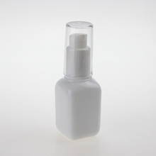 Wholesale  Empty Glass Square Opal Lotion Pump Bottle