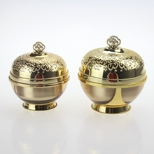 Wholesale Cosmetic Gold Round Crown Bottle
