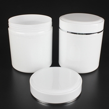 800g Empty PP Plastic Jar for Hair Products  in White