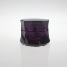 Deep Purple Plastic Cosmetic Cream Jar in Special Shape