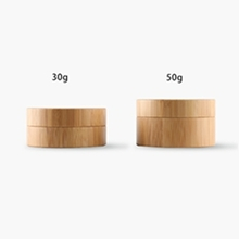 Round Cosmetic Plastic Cream Jars with Wood Pattern