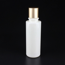 White Round PET Lotion Bottle with Gold Cover