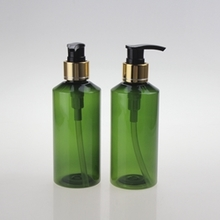Wholesale Multi-size PET Lotion Pump Bottle in Green