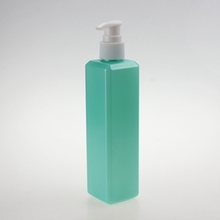 300ml Green Square Plastic Lotion Pump Bottle