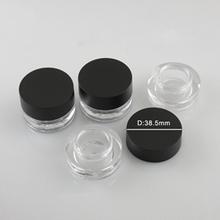 Cosmetic Makeup Packaging Loose Powder Box with Black Cap