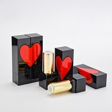 DIY Wholesale Empty Black Heart Square Lipstick Tube