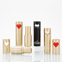High-end New Style Black & Gold Heart Pattern Lipstick Tube