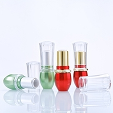 High-grade Transparent Red Green DIY Lipstick Tube