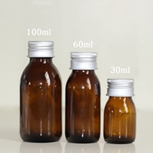 Amber or Clear Glass Essential Oil Bottle 30ml 60ml 100ml