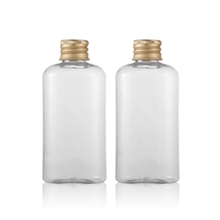 100ml PET Plastic Lotion Bottle with Gold Aluminum Cap