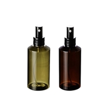 100ml Straight Round Amber or Green PET Lotion Bottle