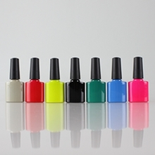 New Style Colored Glass Nail Polish Bottle for Cosmetic