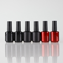 Wholesale Bright Red and Black Glass Nail Polish Bottles