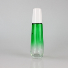 45ml 110ml 160ml Gradient Green Colored Glass Lotion Bottle
