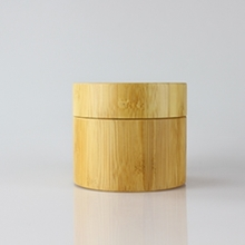 New Multi-size Bamboo Cream Jars with Plastic Inner Pot