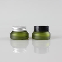 Green Frosted 15g 30g 50g Cream Glass Containers