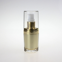 30ml 50ml Luxury Gold Lotion Pump Bottle in Special Shape