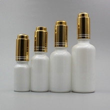 Multi-size Opal Pearl White Dropper Bottle with Press Button