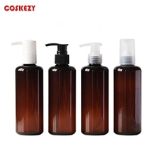 Round PET Bottle with Lotion Pump 250ml 450ml 500ml 1000ml